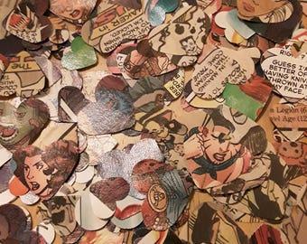 Marvel Confetti Hearts. Table Confetti Hearts. Recycled Marvel comics. Wedding table decoration. Superhero party. Xmen. Avengers. Spiderman.