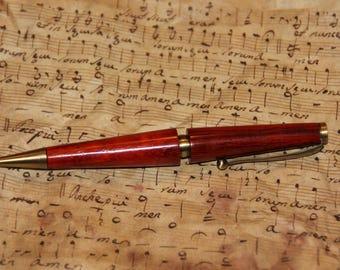 wooden 'padauk' pen and antique bronze