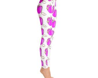 Pink Apples Leggings