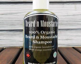Beard n Moustache Organic Beard and Moustache Shampoo for Traditional Men - Birthday Gift, Birthday Gift for Men, Gifts, Birthday Gift ideas