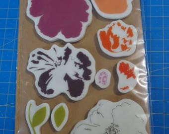 Stamp unmounted rubber - made flowers 2