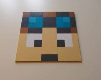 Minecraft inpired Dan tdm wall plaque/wall hanging/wall picture