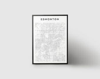 Edmonton map etsy edmonton map print gumiabroncs Images