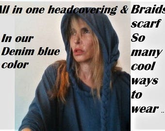 Two  Boho  head scarfs | Turbans scarfs|Multi style |Head Covering for Women | braids Scarves  | Fashion Lightweight Scarf | Headcover
