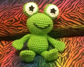 Crocheted Frog (Made to Order)