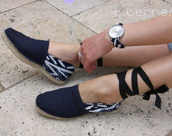 Set shows shoes Navy Blue and white