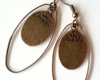 Tan earrings 3
