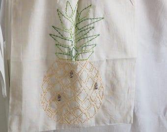 Cotton tote bag pineapple unique