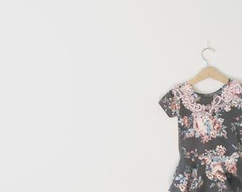 Bloosom Leotard - Leo Dress - Twirl Dress - Vintage Floral Leotard Dress - Girls/Toddler Leotard