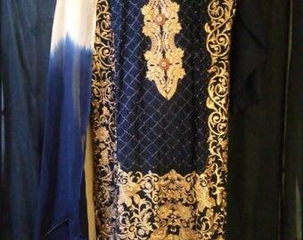 3pcs designer inspired party wear shalwar kameez