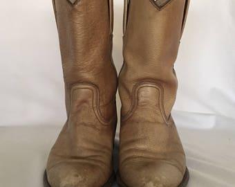 Frye western boots.