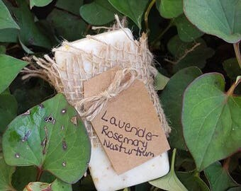 Lavender, Rosemary, Nasturtium Lye Soap
