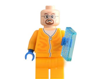 Walter White Chem Suit  Lego Inspired Mini Figure With Crystal Meth Accessory Breaking Bad