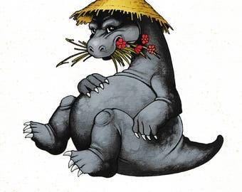 Small illustration of a dinosaur