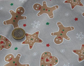 coupon fabric patchwork 50 X 50 cm / gingerbread