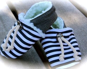 booties sailor baby girl or boy 3-6 months or 9-12 months