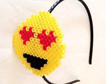 Love eyed emoji headband