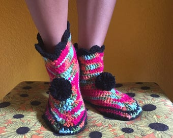 Colorful Slipper Boots