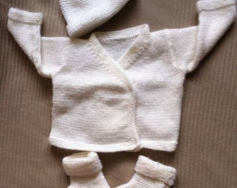 all white booties newborn top hat