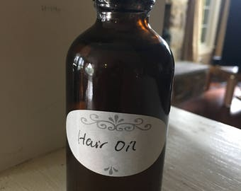 Hair and Scalp  Massage Oil Organic Sesame Oil Coconut Oil w/Brahmi and Triphala - Better for the Hair and Better for the Mind
