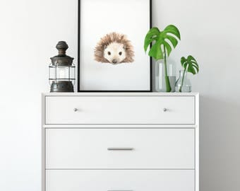 Watercolor Porcupine
