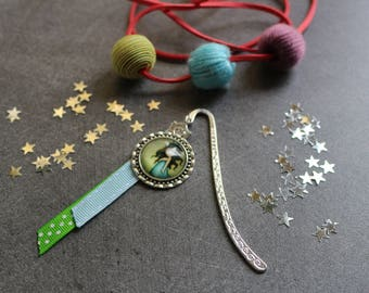 Bookmark cabochon in silver jewel