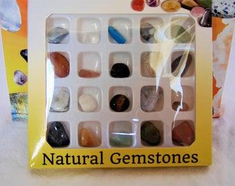 20 pierres roulées de pierre semi precieuse