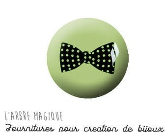 EPOXY resin 25 MM Cabochon paste green bowtie M1108 25 mm