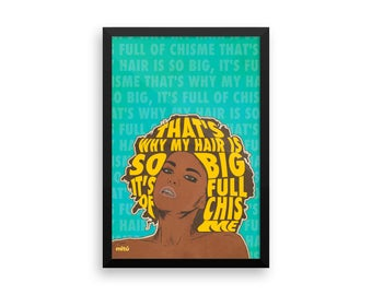 Hair Full Of Chisme Wall Art, Chismosa Wall Art, Gossip Wall Art.