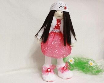 Textile doll, Tilde doll, interior doll