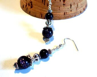 Retro chic earrings, sparkly beads