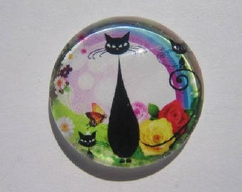 MOM cat and 2 kittens cabochon, 20mm