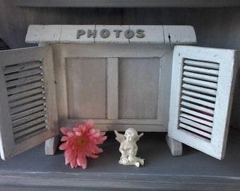 Vintage old picture frame weathered