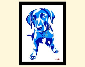 Pet Portrait, Custom Pet Portrait, Bespoke Art, Digital Print, Animal Print, Pet Art, Dog Art, Labrador Print, Dog Artwork, Digital Art