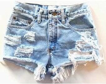 Vintage babe distressed shorts