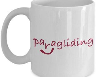Paragliding White Ceramic Mug With A Twist