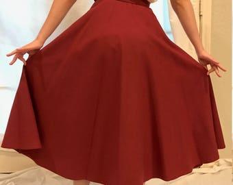 80s Wool Skirt