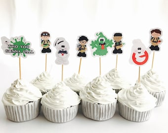 Ghostbusters Party Food Cupcake Cake Topper Pick. Party Supplies Bunting Lolly Loot Bags Favours Invitation Deco