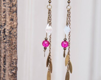 """Jaora"" fuchsia earrings"