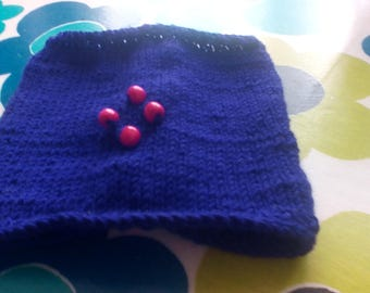 Hand knitted purple cafetieres cosy, BN
