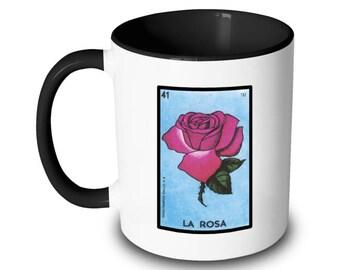 La Rosa Mug Rose Loteria Card Mexican Bingo