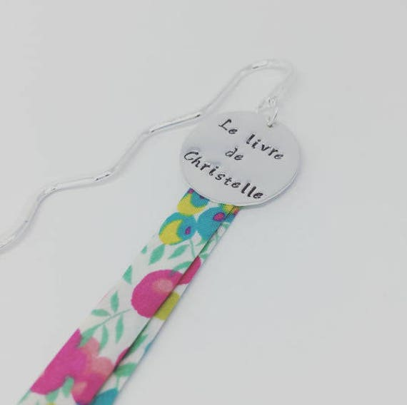 Bookmark personalized Liberty with etching choice & Liberty of London by Palilo jewelry