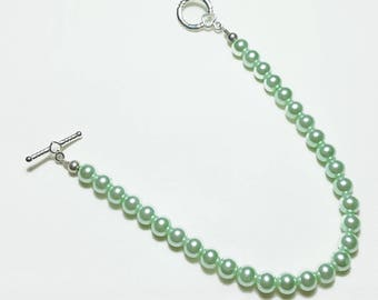 Mint Green Pearl Wedding Bridal Beaded Bracelet