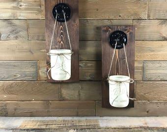 Mason Jar Sconces, Rustic Sconces, Rustic Wall Decor, Rustic Wall Decor
