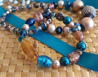 Triple the Beauty Beaded Bracelets