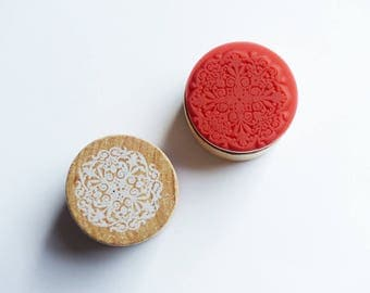 wood circle stamp holder 3 cm * 6 pattern