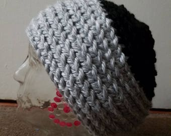 Gray Black Swirl Slouch Hat