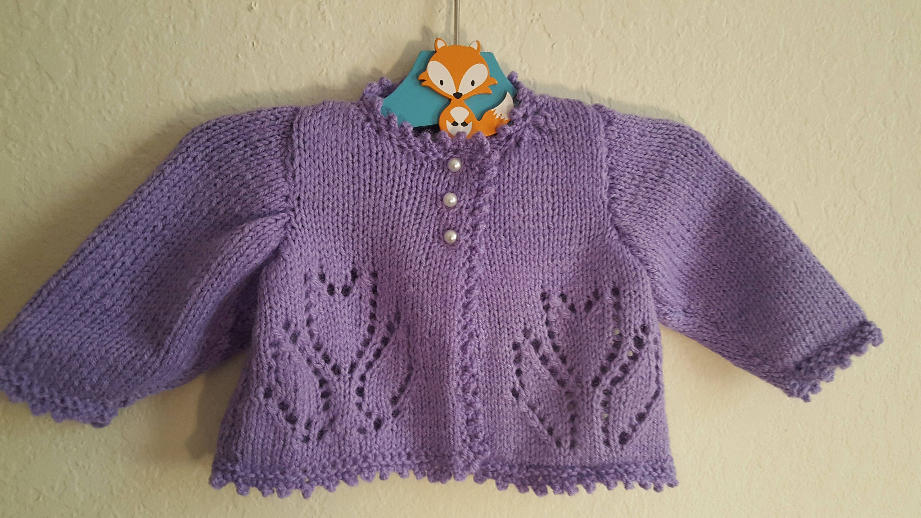 Baby-Purple Tulip Sweater