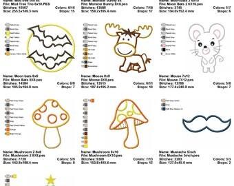 10 Designs Applique Machine Embroidery SET 4