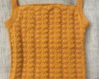 Hand knitted top, women top